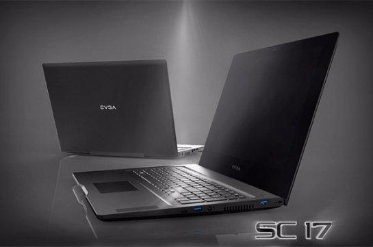 Стали известны характеристики ноутбука EVGA SC17 Gaming