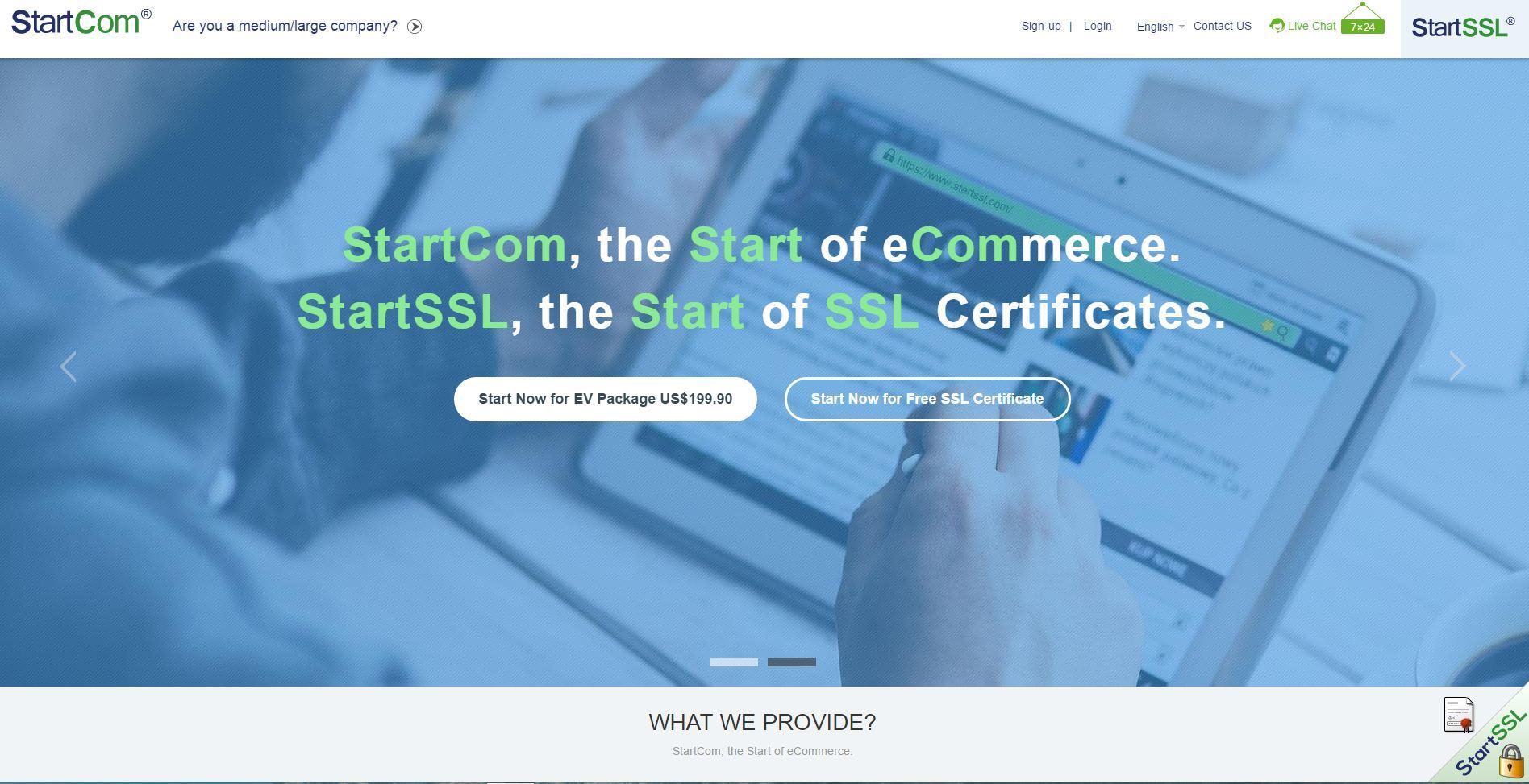 StartCOM: Certificate Transparency, бесплатные* EV SSL сертификаты - 1