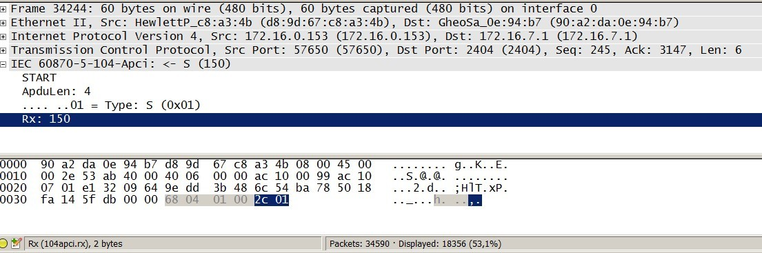Как я писал библиотеку под МЭК 870-5-104 на Arduino при помощи Wireshark - 13