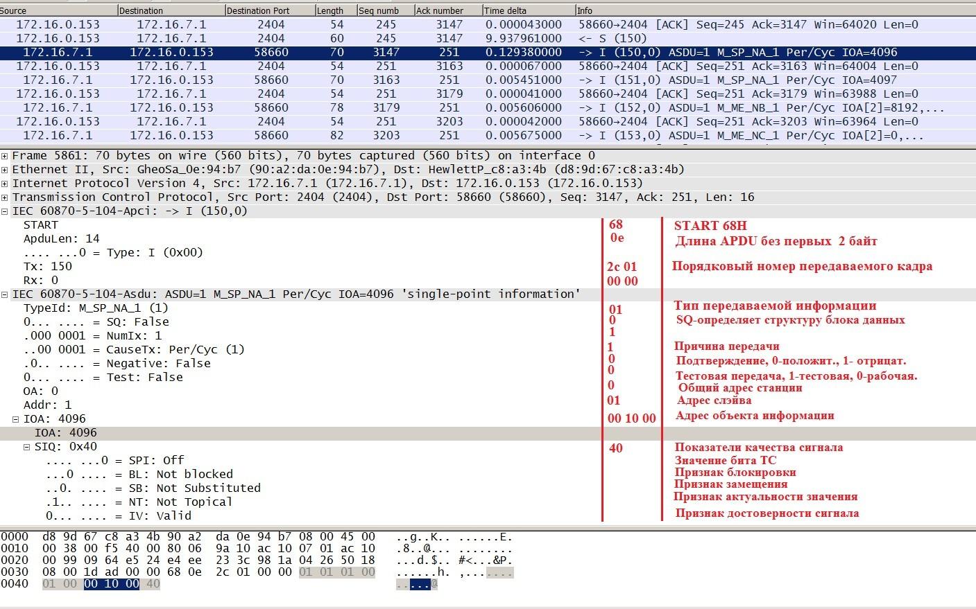 Как я писал библиотеку под МЭК 870-5-104 на Arduino при помощи Wireshark - 18