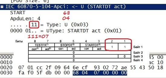 Как я писал библиотеку под МЭК 870-5-104 на Arduino при помощи Wireshark - 8