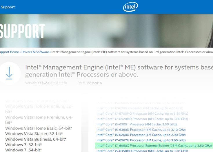 В серию Intel Core i7-6900 входят многоядерные процессоры на микроархитектуре Broadwell-E