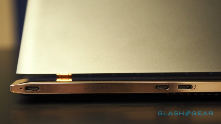 Ноутбук HP Spectre наделили тремя портами USB-C