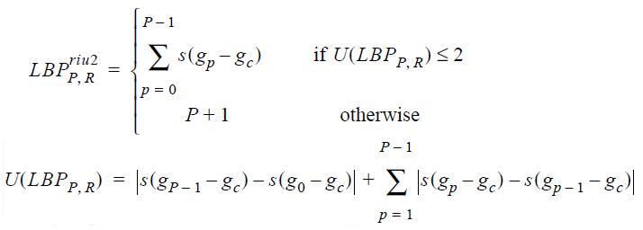Обзор дескрипторов изображения Local Binary Patterns (LBP) и их вариаций - 7