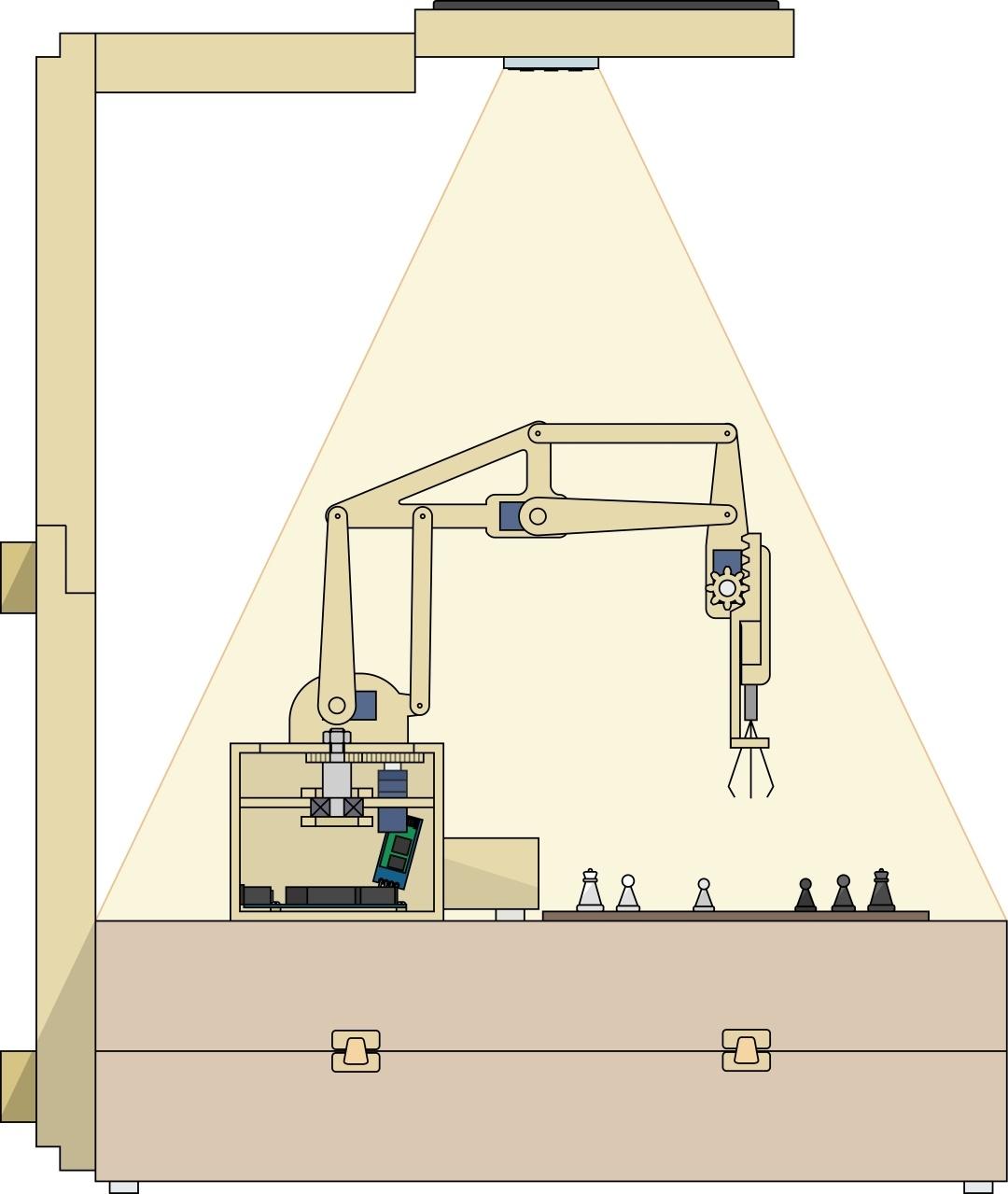 Деревянный робот, который умеет играть в шахматы - 1