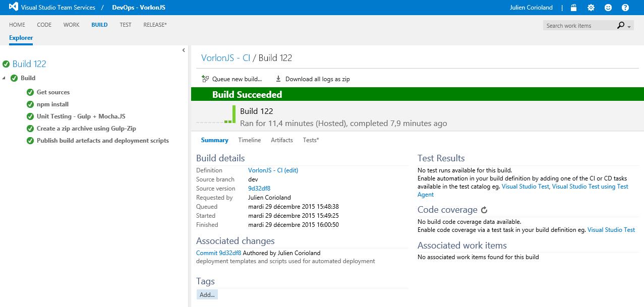 Как мы внедряли DevOps: непрерывная интеграция с GitHub и системой сборки Visual Studio Team Services - 11