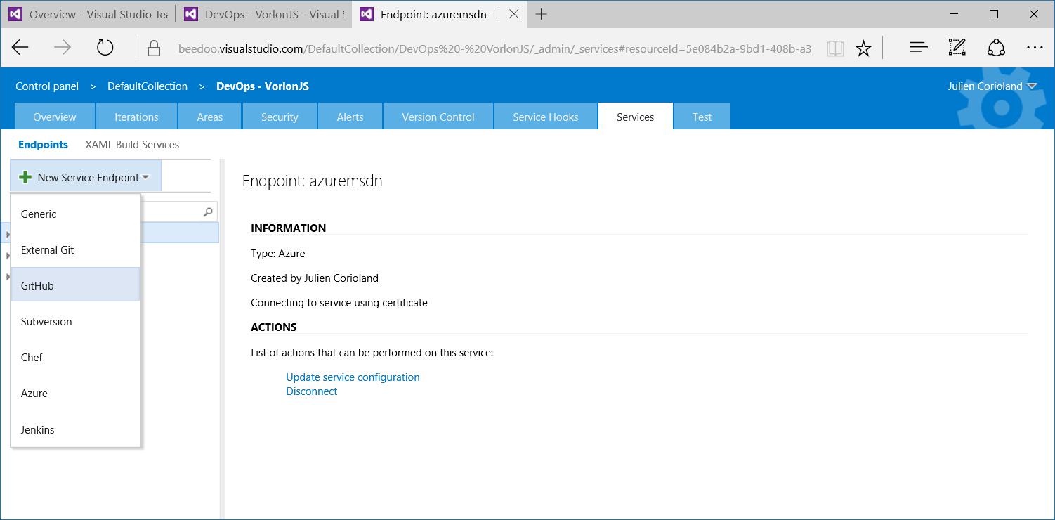 Как мы внедряли DevOps: непрерывная интеграция с GitHub и системой сборки Visual Studio Team Services - 2
