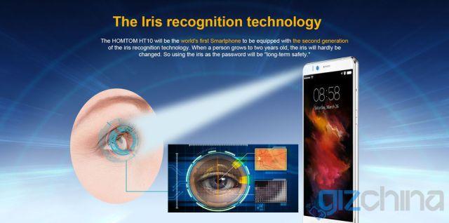 Смартфон Homtom HT10 получит сканер радужной оболочки глаза второго поколения