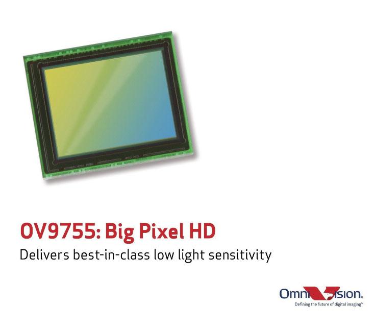 Серийный выпуск датчиков изображения OmniVision OV9755 уже начался