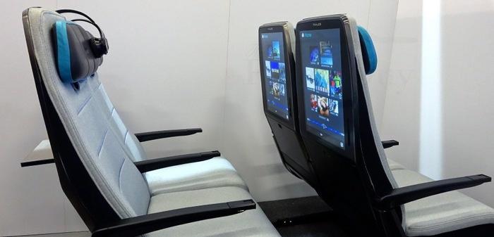 Компания Thales хочет оснастить кресла в эконом-классе сенсорными дисплеями диагональю 21,3 дюйма