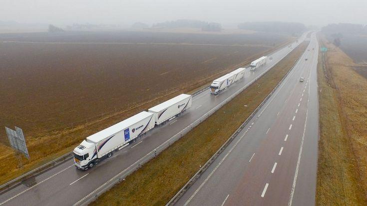 В рамках European Truck Platooning Challenge беспилотные грузовики приехали в Нидерланды