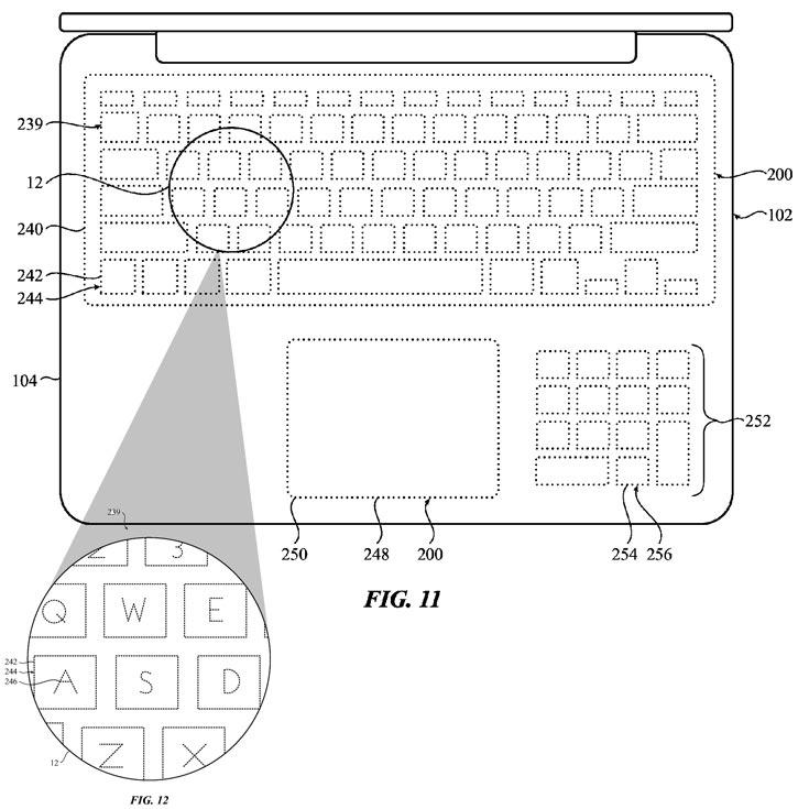 К преимуществам такой «клавиатуры» авторы изобретения относят защиту от пыли и влаги