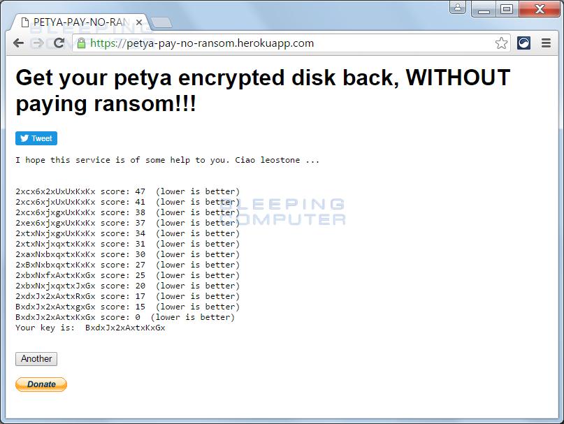 Криптовымогатель Petya денег не получит: генерируем ключ разлочки жесткого диска сами - 4