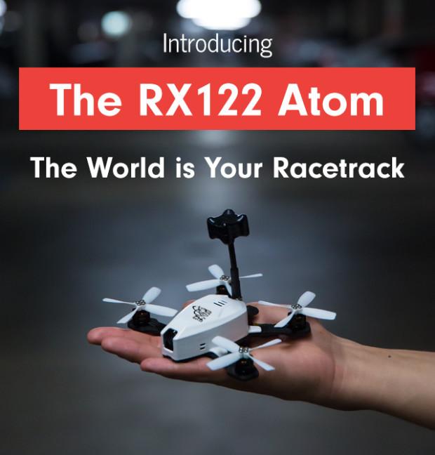 Гоночный дрон RX122 Atom, который не требует регистрации в FAA, собирает средства на Indiegogo
