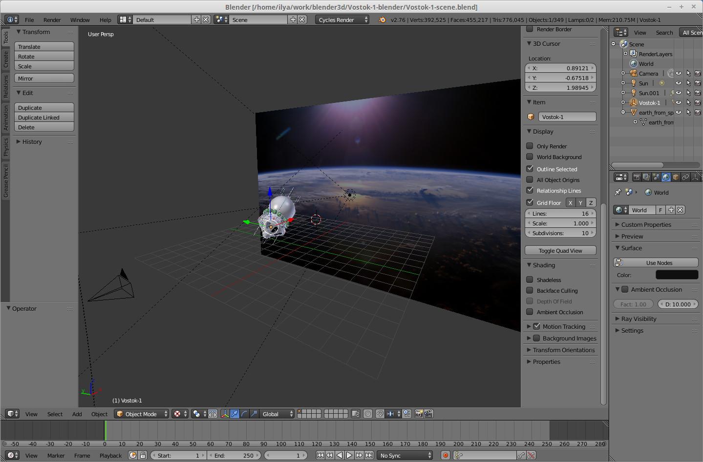Космический корабль Восток-1 в 3D — рендерим в Blender - 4