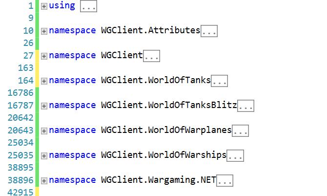 Пишем утилиту автоматической генерации C# клиента для проектов Wargaming - 7