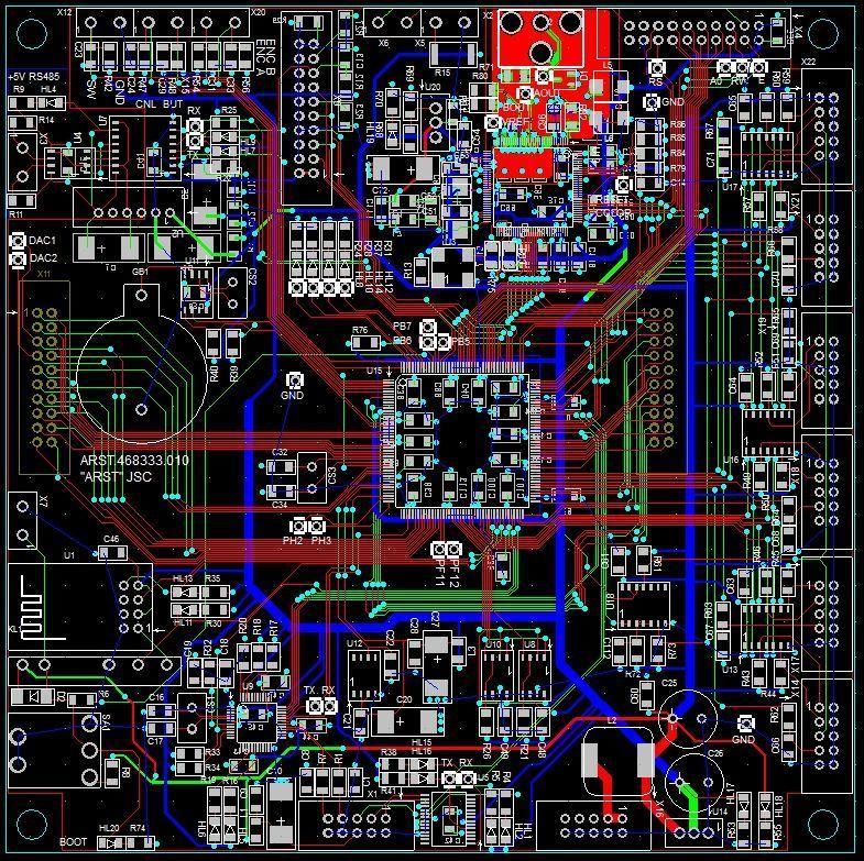 Плата контроллера на базе STM32F7 с видеовыходом - 1