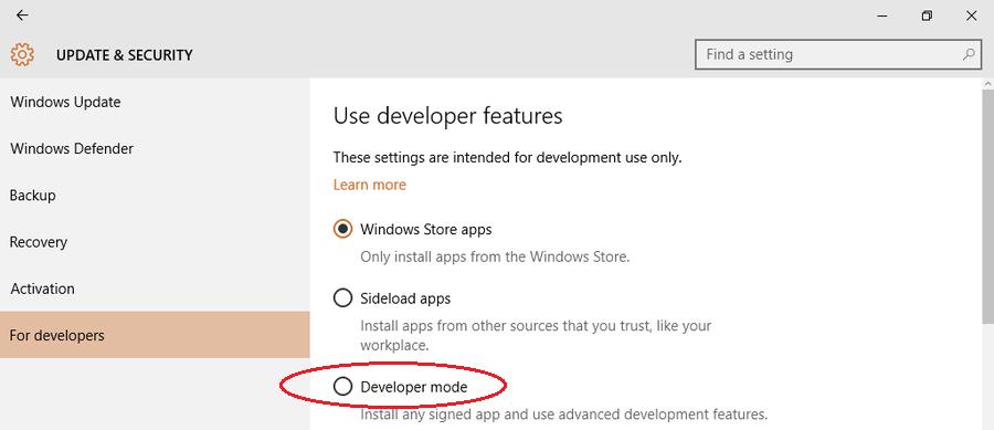 Включение подсистемы Linux в Windows 10 - 2