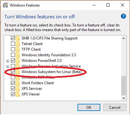 Включение подсистемы Linux в Windows 10 - 5