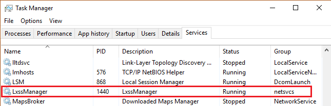Включение подсистемы Linux в Windows 10 - 8