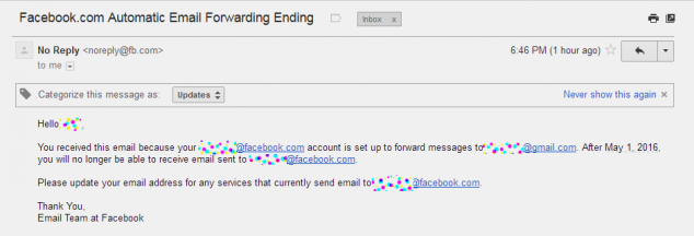 Facebook убьёт свою систему email 1 Мая 2016