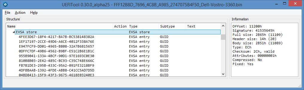 Устройство NVRAM в UEFI-совместимых прошивках, часть третья - 8