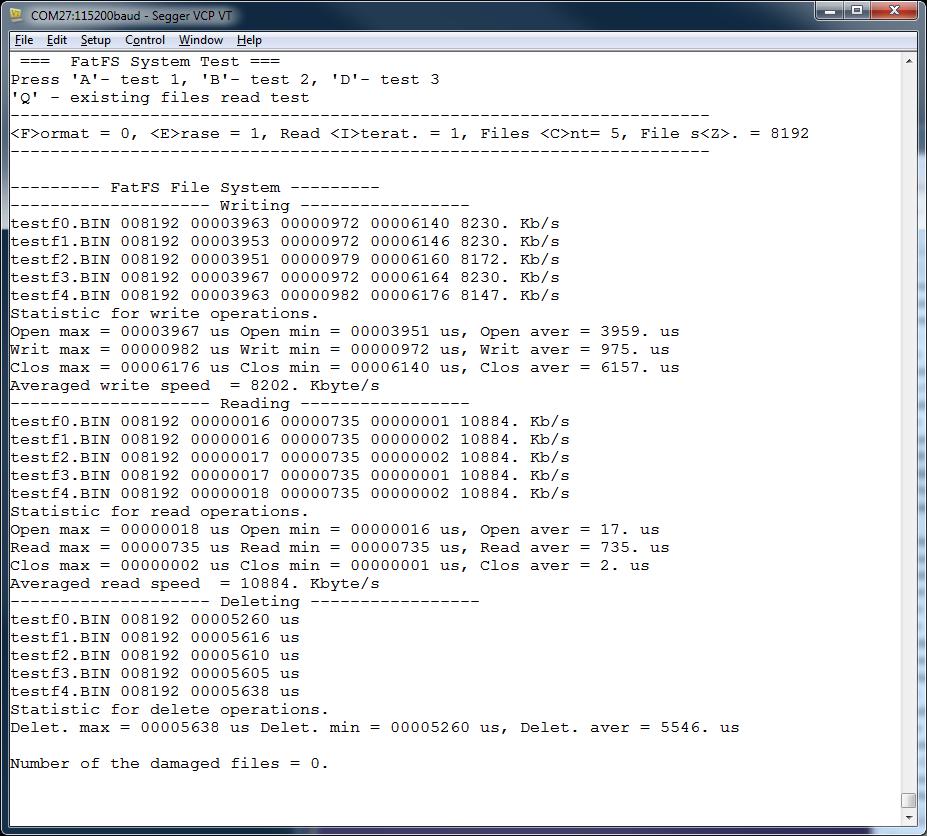 Модуль универсального контроллера для интернета вещей. Тестирование FatFs - 6