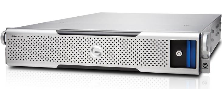 NAS G-Technology G-Rack 12 обеспечивает пропускную способность до 2000 МБ/с