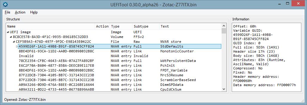 Устройство NVRAM в UEFI-совместимых прошивках, часть четвертая - 3