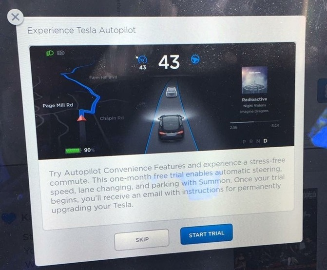 Покупатели электромобилей Tesla могут опробовать автопилот в течение месяца, решив, нужна ли им эта функциональность