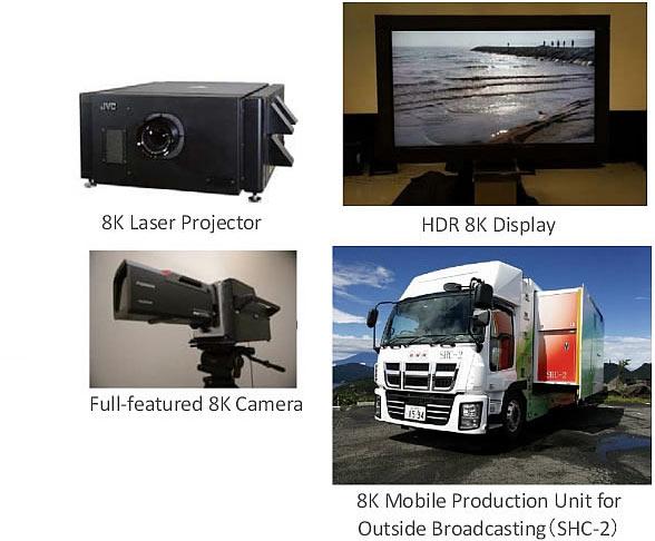В экспозицию NHK вошла камера, устройства отображения и мобильные аппаратные