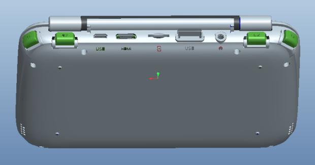 Система GPD Win использует планшетную платформу, настольную ОС в формате смартфона