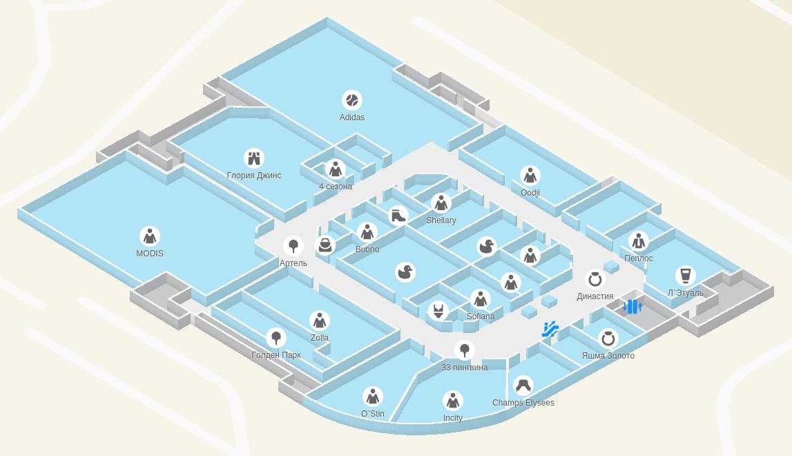 Этажи: 3D-навигация на WebGL в 2gis.ru - 12