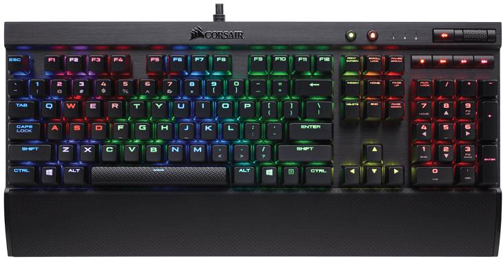Клавиатуры Corsair K70 RGB RapidFire, K65 RGB RapidFire и K70 RapidFire получили самые быстрые переключатели Cherry