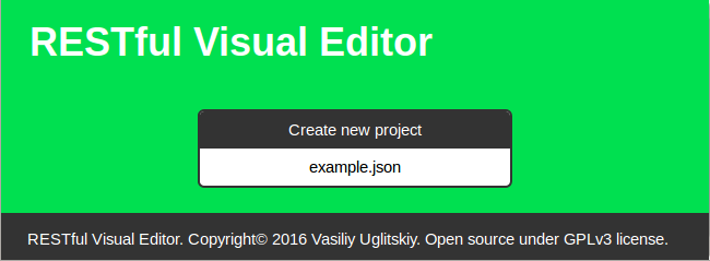 RESTful Visual Editor - 1