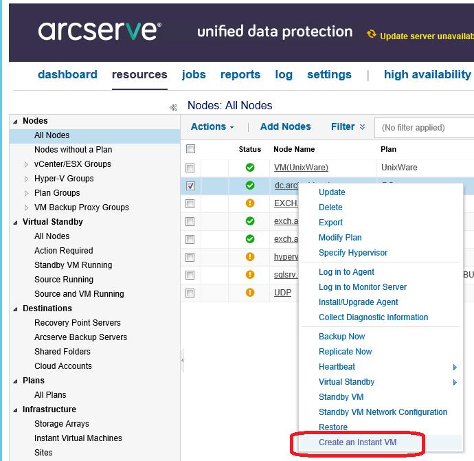 Восстановить за 60 секунд (или как ускорить восстановление данных при помощи Arcserve UDP) - 19