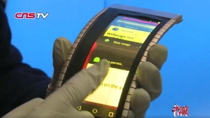 Показан первый настоящий гибкий смартфон