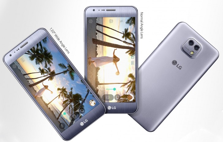 Смартфон LG X Cam выполнен полностью из пластика