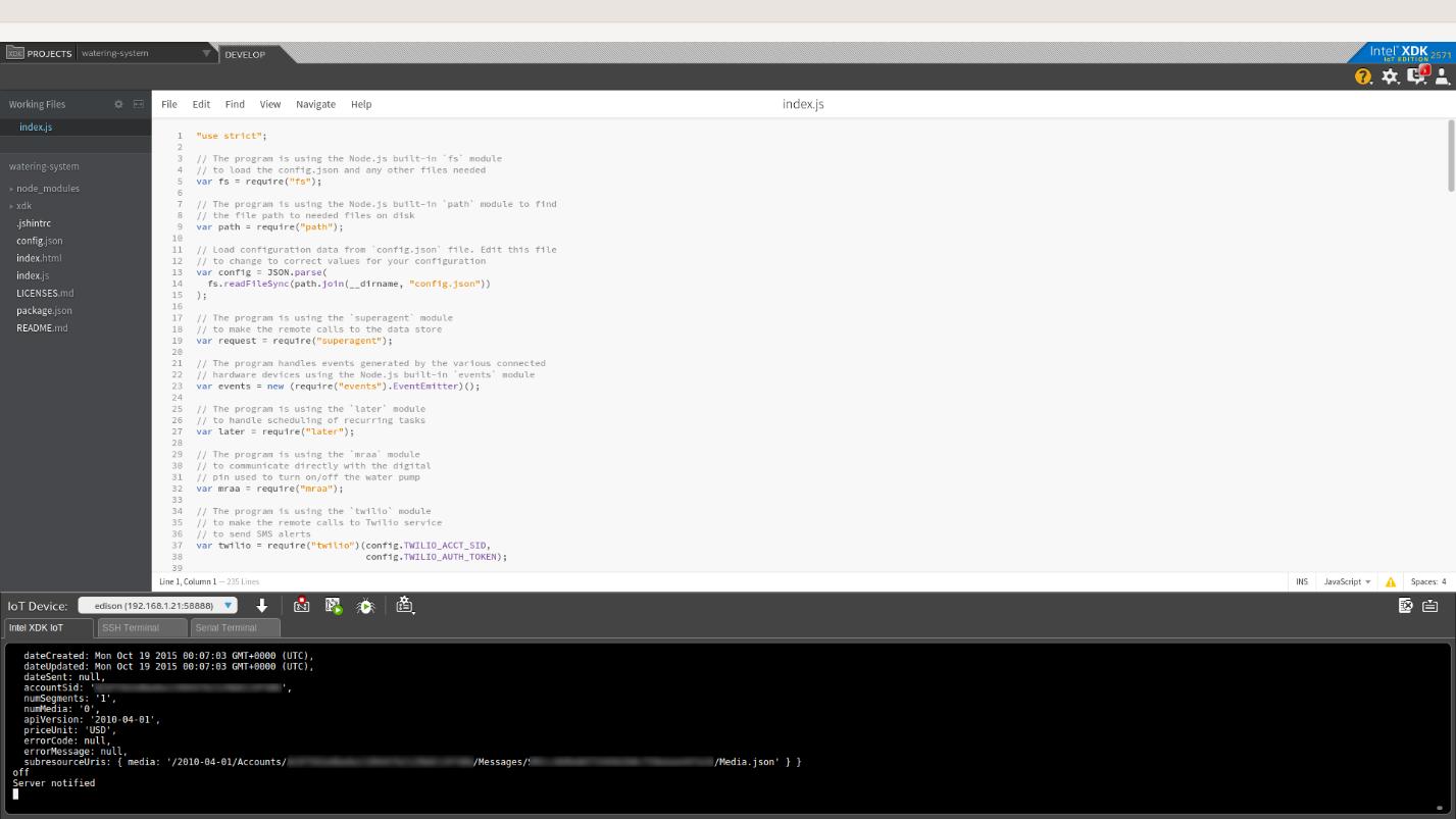 Примеры кода для интернета вещей: умная поливалка - 8
