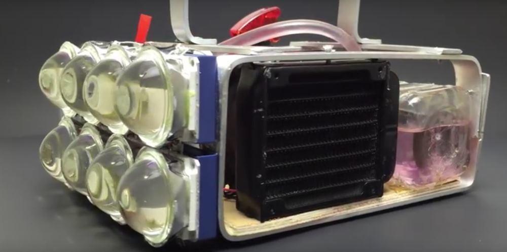 Светодиодный DIY-фонарь на 100000 люмен с водяным охлаждением - 1