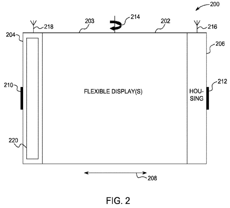Описанное в патенте электронное устройство реагирует деформацию гибкого экрана «и другие жесты»