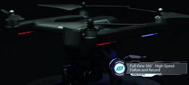 Дрон Flypro XEagle, оснащенной камерой 4K, управляется при помощи умных часов