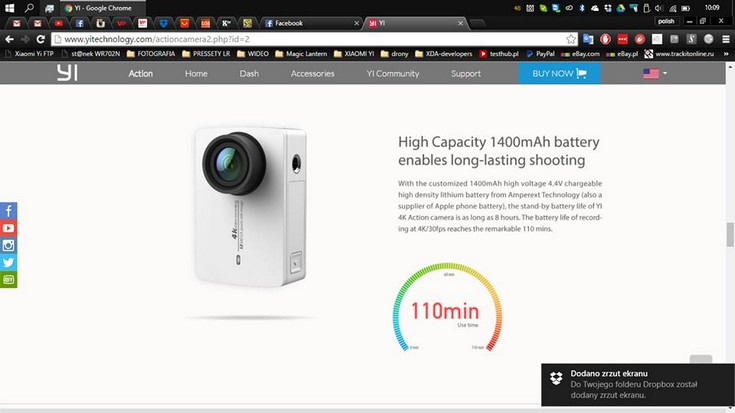 Экшн-камера Xiaomi Yi 4K научится снимать видео 4K