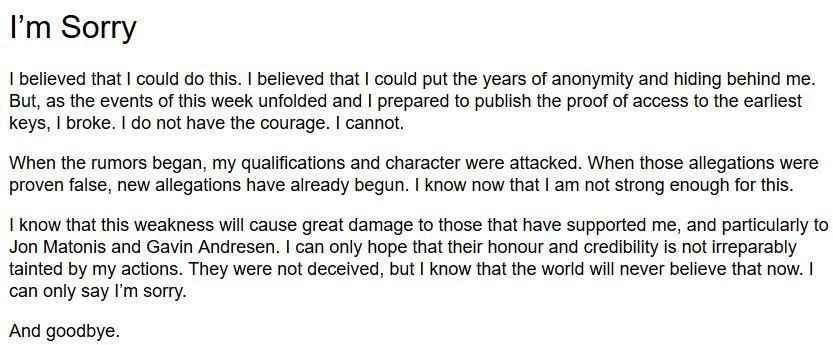 Крейг Райт прекратил попытки доказать, что он и есть Сатоши Накамото - 2