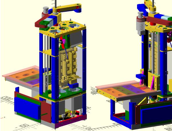 Самодельный 3D принтер на SCARA механике, v3 - 1