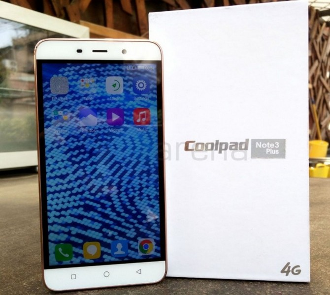 Смартфон Coolpad Note 3 Plus получил SoC MediaTek MT6753