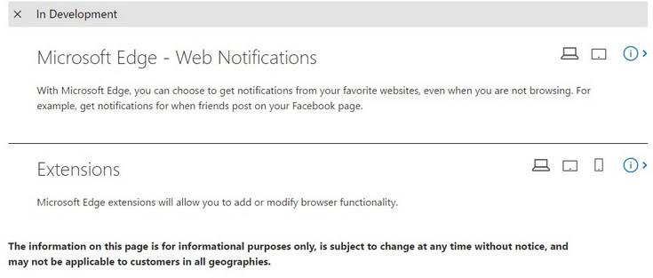 Microsoft работает над добавлением поддержки расширений мобильного браузера Edge