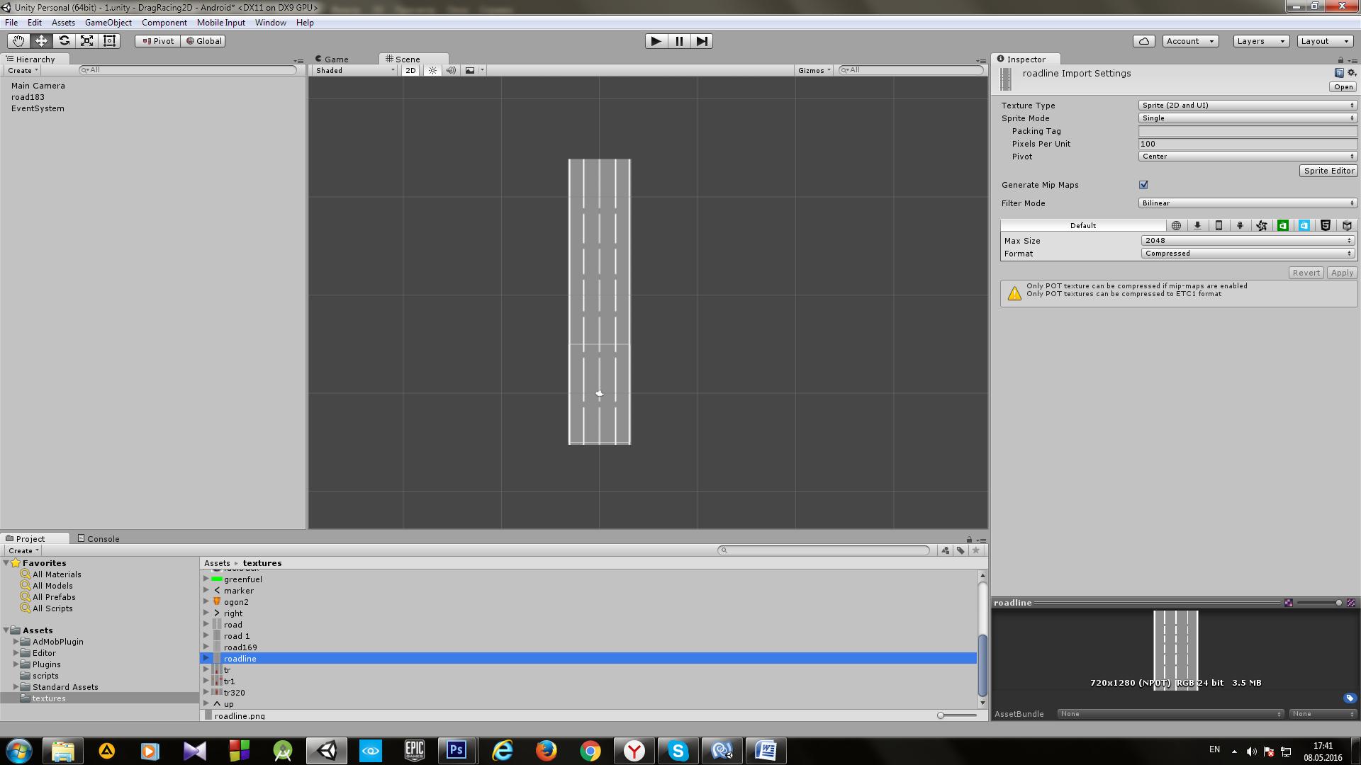 Пример создания простой 2D игры для Android с использованием игрового движка Unity - 8