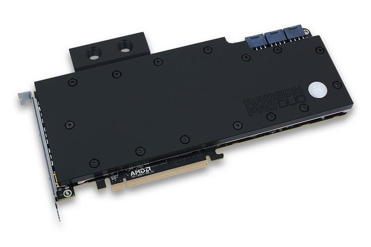 EK-FC Radeon Pro Duo — водоблок для Radeon Pro Duo