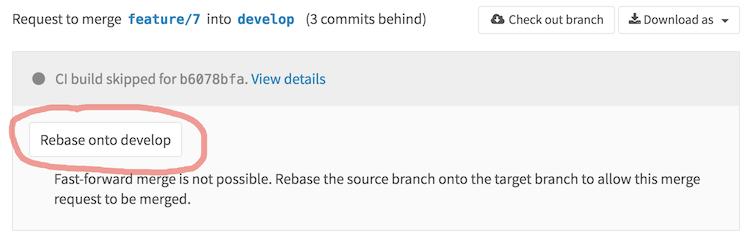 GitLabProjectRebase